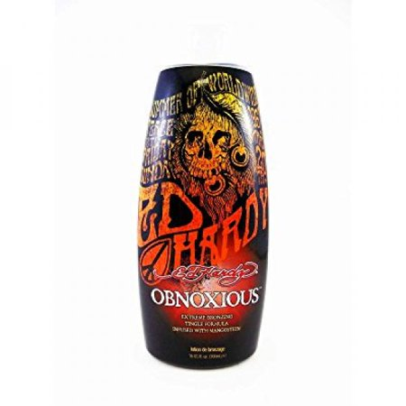 Ed Hardy Obnoxious Extreme Bronzer Tingle Tanning Lotion, 10 (Best Bronzer For Cool Skin Tone)