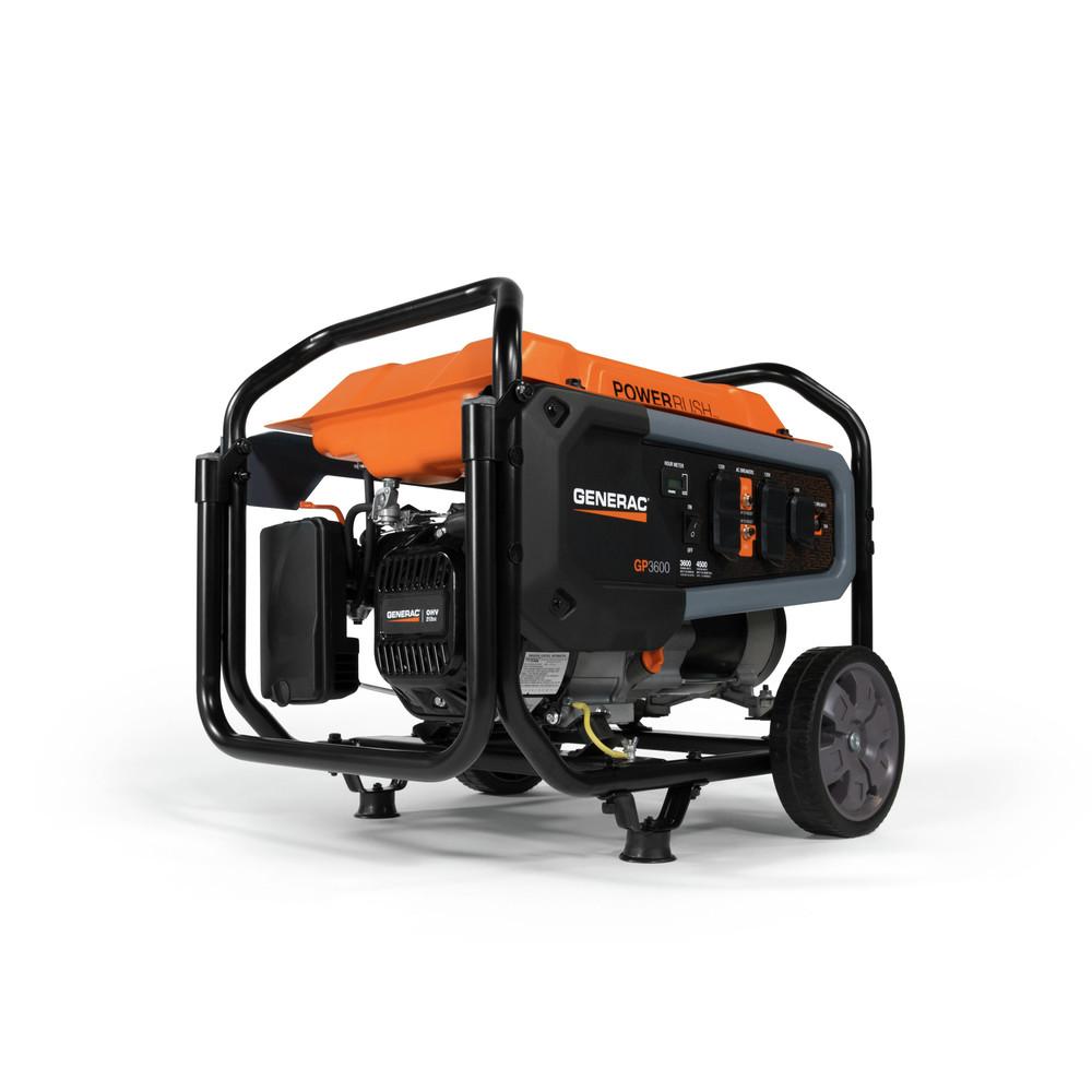 Generac 7678 GP3600 - 3,600 Watt Portable Generator, 50 State