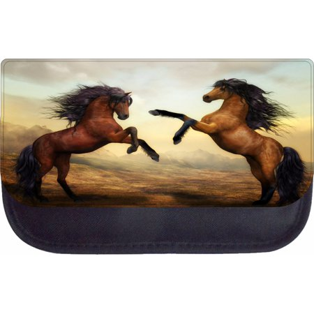 Nylon Painting Case (Watercolor Prancing Galloping Horses Painting Print Design - 5