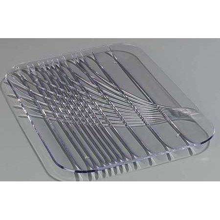 CARLISLE 645007 Festival Tray, Rectangular, Clear, PK