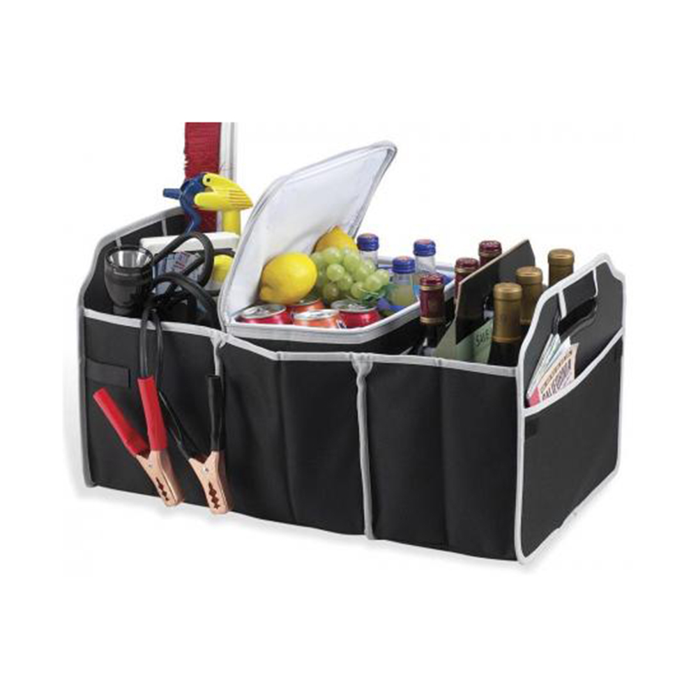 Folding Storage Bin Bag Collapsible Box for Automobile car truck Black
