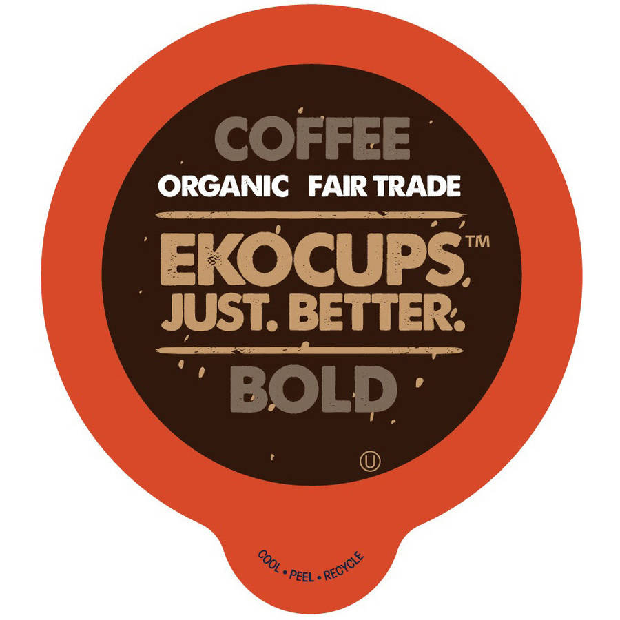 EkoCups, Artisan Organic Bold Blend Coffee in Recyclable Single Serve Cups, 40 Ct