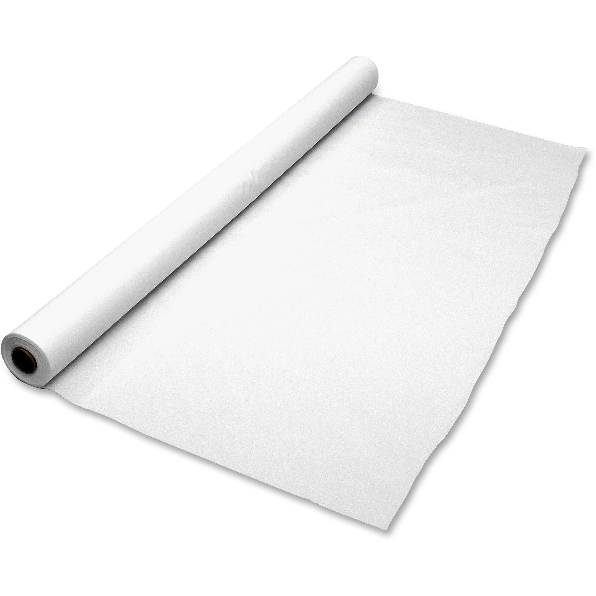 Tablemate, TBLBIO1403WH, Banquet Size Plastic Table Cover Roll, 1 Each, White