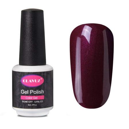 CLAVUZ 8ML Burgundy Nail Polish Soak Off UV LED Gel Nail Varnish Professional Salon Beauty Long Lasting Manicure Art Lacquer