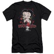 Betty Boop Classic Kiss Mens Slim Fit Shirt