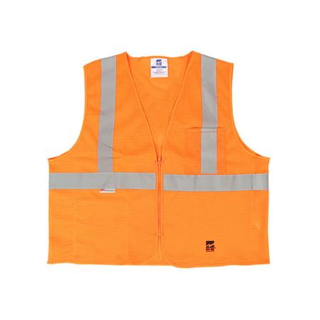 Viking Men S Mesh Zipper Safety Vest Pack Of 25