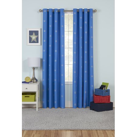 Your Zone Shiny Star Room Darkening Window Curtain Panel with (32 Zone Control Panel)