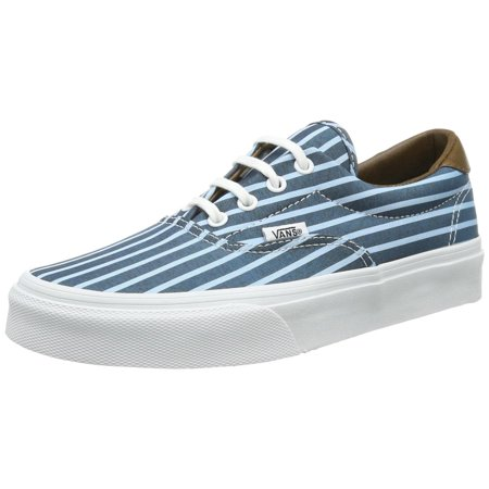1bdedce0da Vans - Vans Women s Era 59 Skateboarding Shoes (Stripes) Blue True White -  Walmart.com
