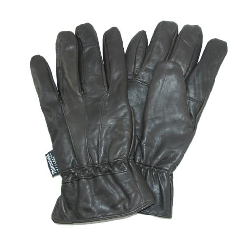 Dorfman Pacific Men Brown Thinsulate Lined Genuine Lambskin Leather Gloves L/XL