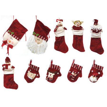 Colonial Mills Classics Christmas Stocking and Novelty Gift Bag Set of 10 - Novelty Christmas Gifts
