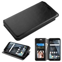 Wydan Case Compatible For LG Stylo 3, Stylo 3 Plus LS777 MP450 TP450 - Leather Wallet Style Case Folio Flip Foldable Kickstand Credit Card Cover - Black