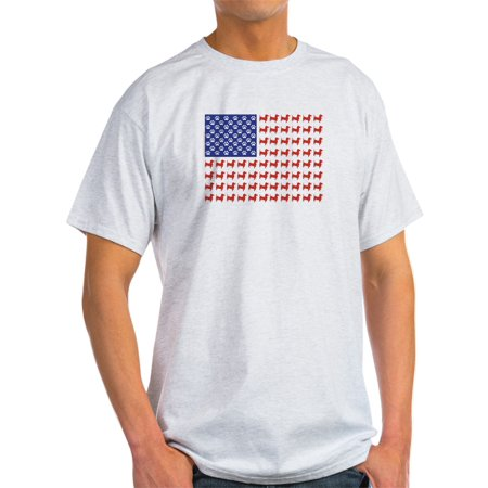 - CafePress - Dachshund Patriotic Flag - Light T-Shirt - CP