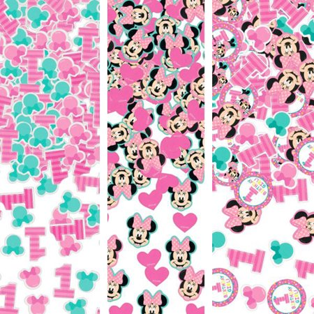 Minnie Mouse 1st Birthday 'Fun to Be One' Confetti Value Pack (3 types) - Minnie Mouse Confetti