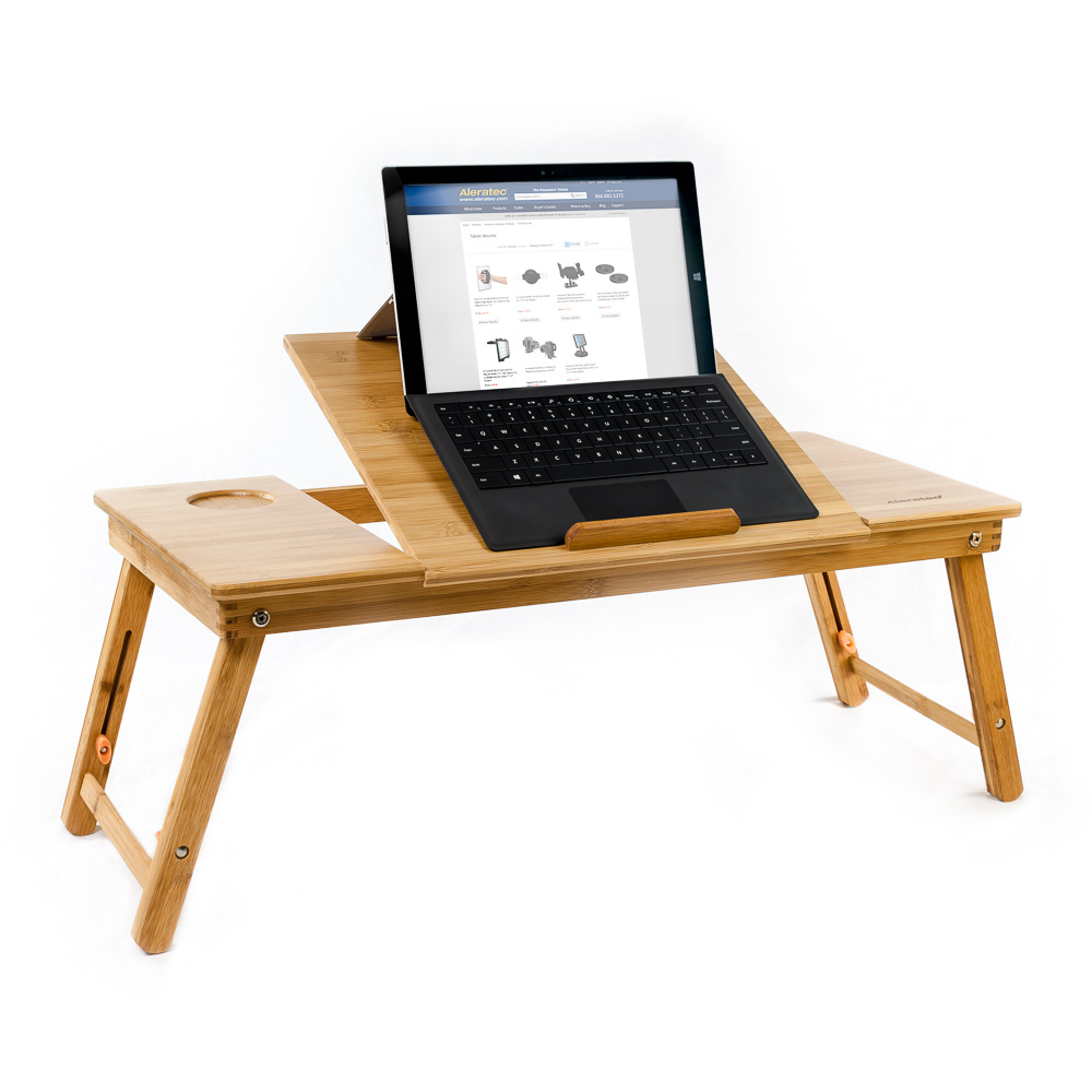 Aleratec Bamboo Lap Desk Laptop Stand For Devices Up To 15 Inches Com