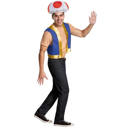 Morris Costumes DG85229AD Toad Adult Costume Kit ()