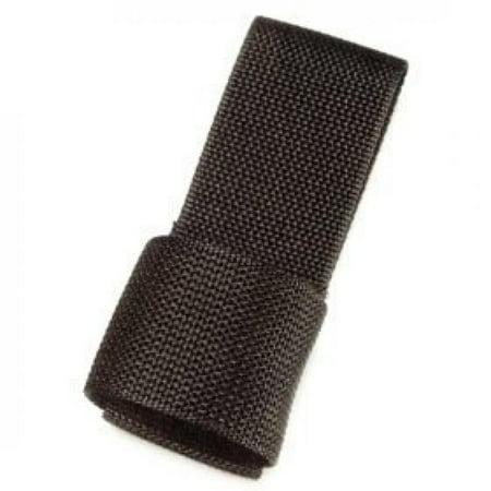 "HWC Police Security Black Nylon Universal Maglite ""C"" & ""D"" Cell Flashlight Holder Ring Case for Duty Belts"