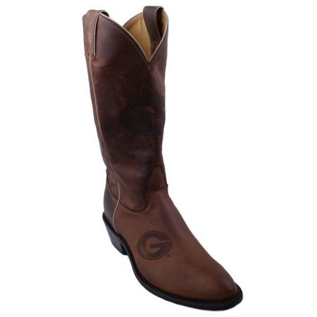 A To Cowhide Boots (Nocona 7LDUG001 Womens University Of Georgia Brown Cowhide Branded College Boots)