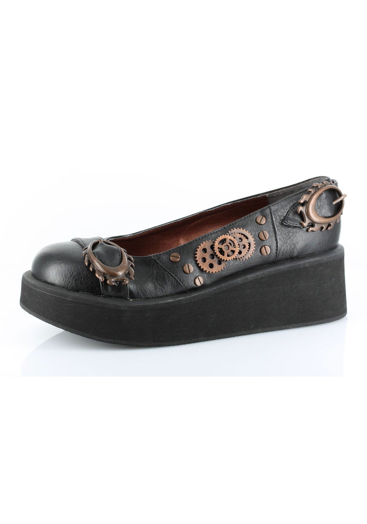 A Beautiful Steampunk Platform Shoe Shoes that are both comfortable and beautiful and eye-catching