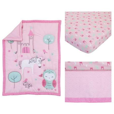 (Child of Mine Princess 3pc Crib Bedding Set)