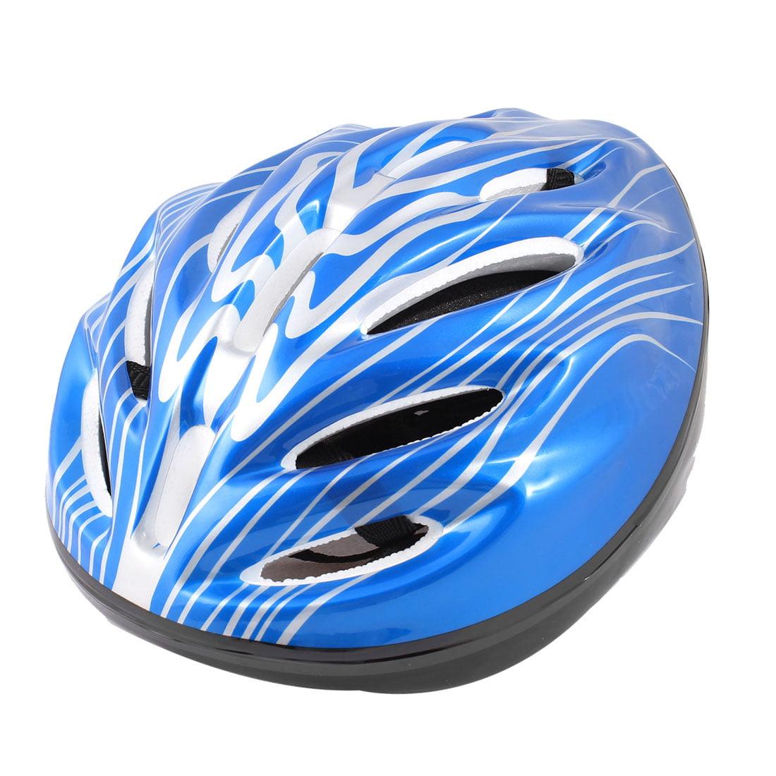 Unique Bargains Women Men Skateboard Skiing Racing Bicycle Bike Sports Helmet White Blue Black by