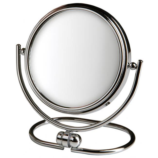 Jerdon Style MC310C 3 inch, 10X-1X Folding Travel Mirror, Chrome, Includes Black Travel Pouch