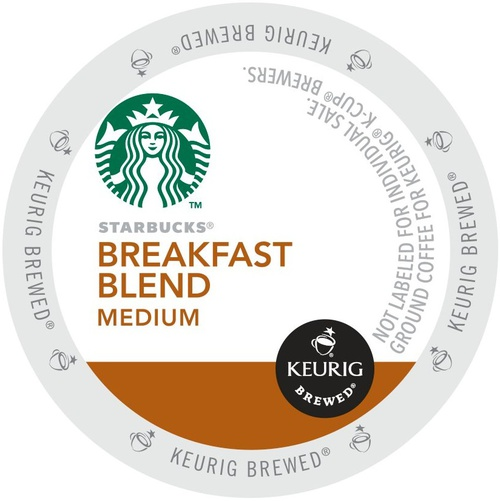 Starbucks Breakfast Blend, K-Cup Portion Pack for Keurig Brewers by Green Mountain