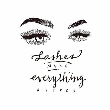Eyelashes Eye Wall Decal Beauty Salon