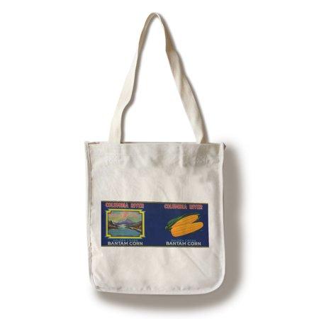Columbia River Corn Label  100  Cotton Tote Bag   Reusable