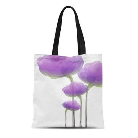 Flowers Tote Bag Handbag Purse (ASHLEIGH Canvas Tote Bag Purple Elizdesigns Lavender Abstract Flowers Whimsical Vine Reusable Handbag Shoulder Grocery Shopping Bags)