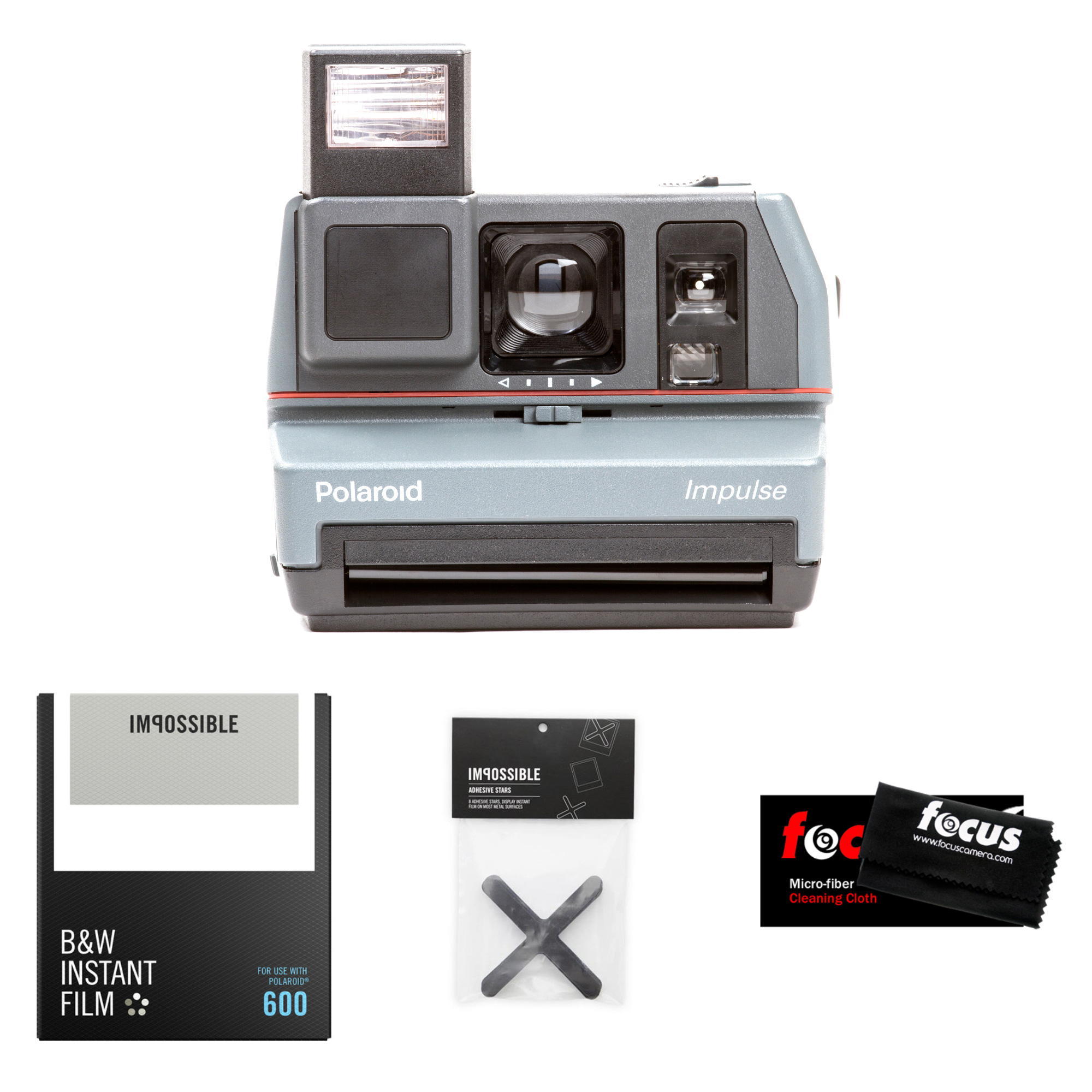 The Impossible Project Polaroid 600 Impulse Camera w  B&W Film (Refurbished) by The Impossible Project