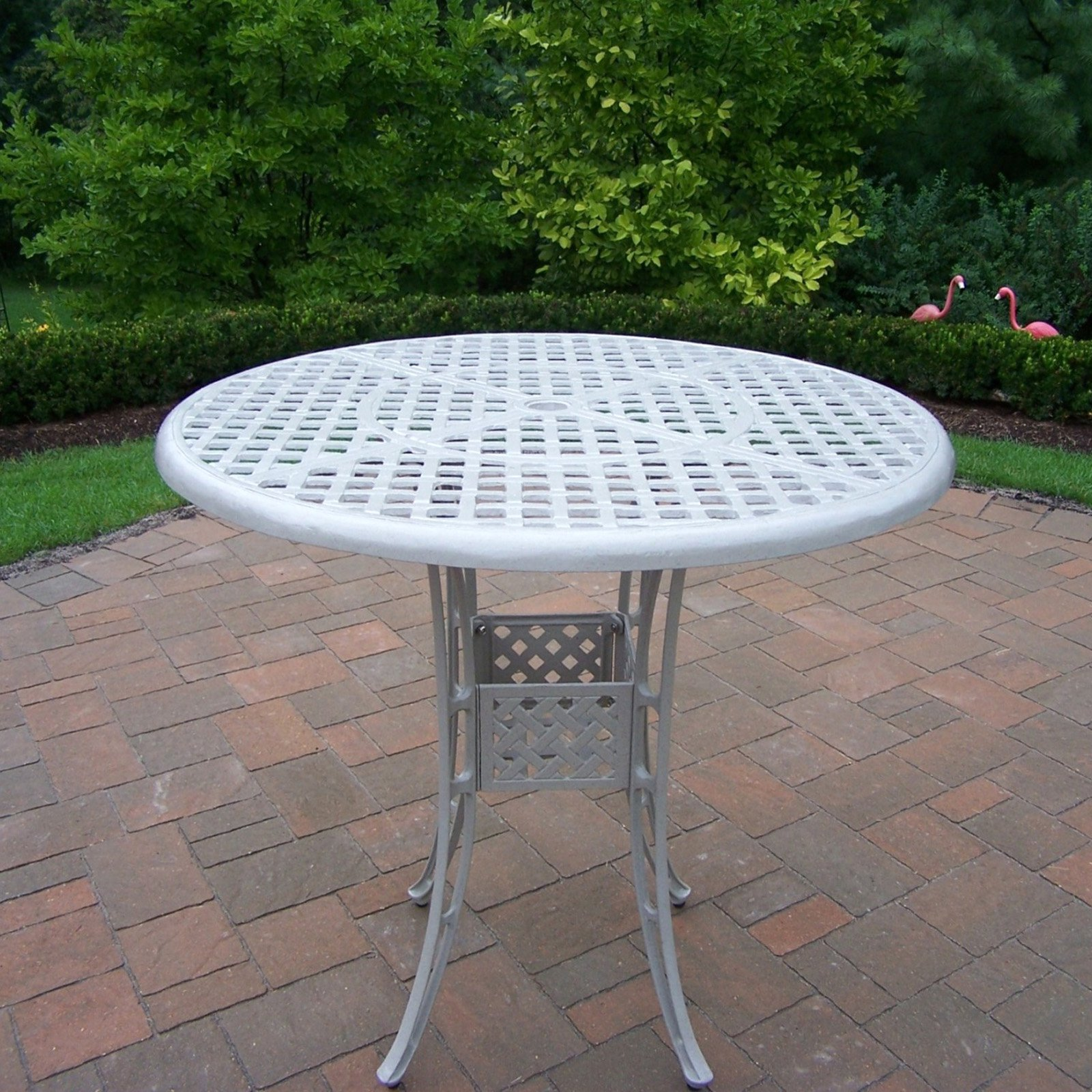 Oakland Living Elite Cast Aluminum 42 In Bar Height Patio Dining