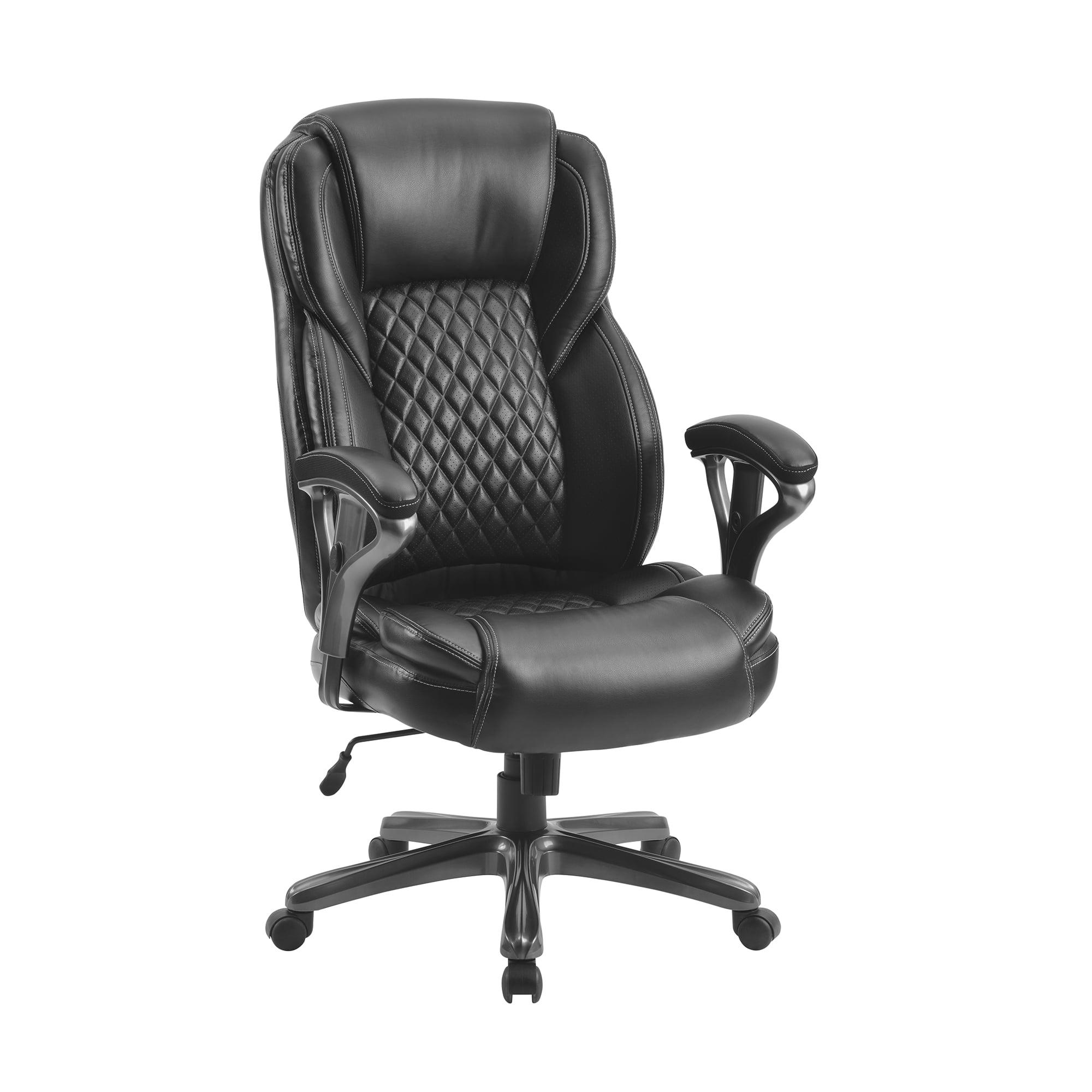 Home Office Big And Tall Pu Leather Office Chair Ergonomic Computer Chair High Back Pu Executive Chair Black Walmart Com Walmart Com
