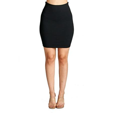 (Womens Elastic Waist Stretchable Mini Bodycon Pencil Skirt 52756)