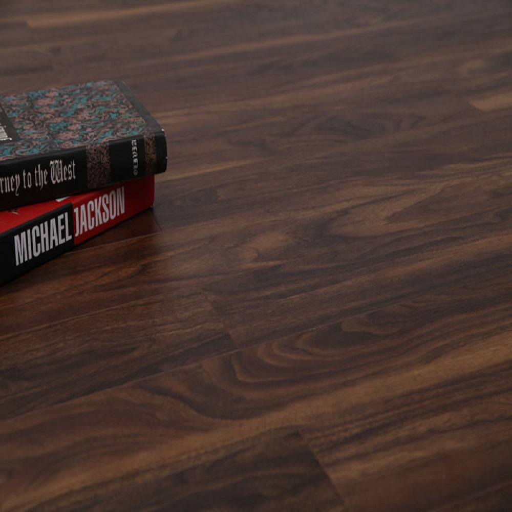 12mm thickness Cottage collection 1215mmx126mm AC3, CARB2 EIR Laminate Flooring - Black Walnut