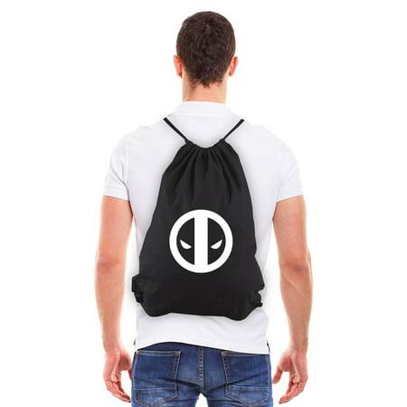 Deadpool Logo Eco-Friendly Reusable Cotton Canvas Draw String Gym Bag Sack