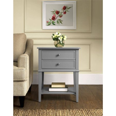 Ameriwood Home Franklin Accent Table with 2 Drawers, Multiple Colors (Kids Accent Table)