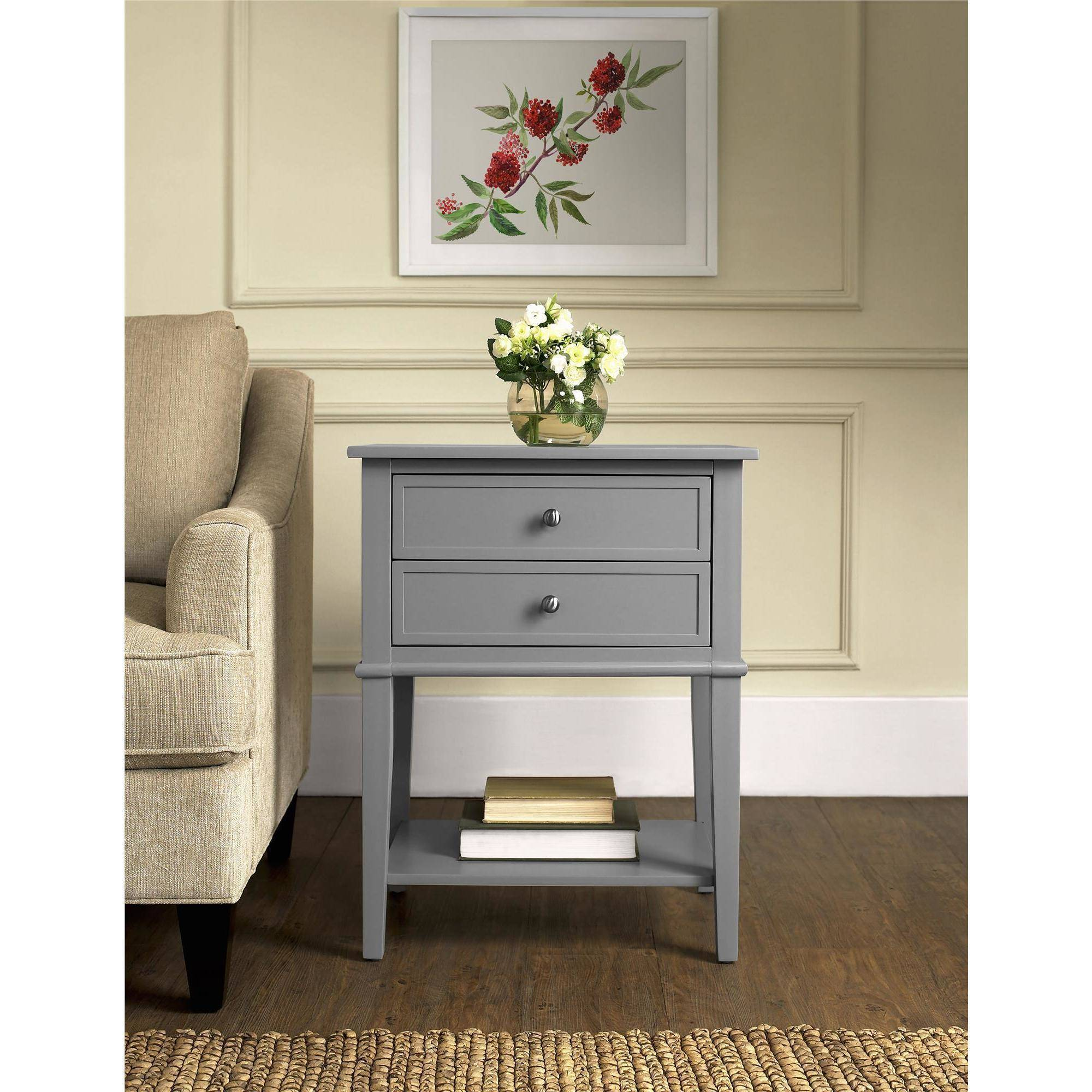 ameriwood home franklin accent table with 2 drawers multiple colors