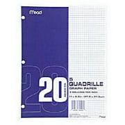 3Pc Mead 19030 20 Ct White Graph Paper