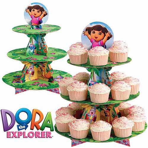 "Wilton 3-Tier Treat Stand, Dora the Explorer"" 24 ct. 1512-6300"
