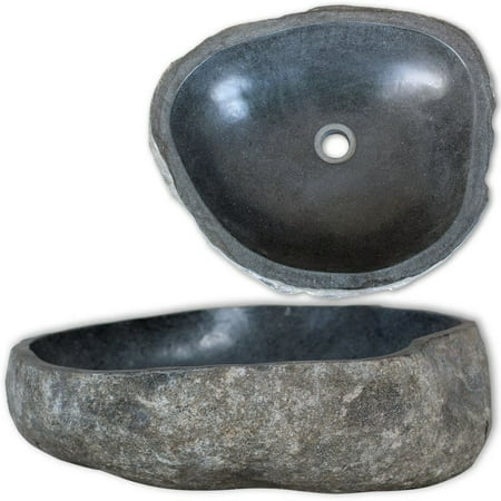 Bathroom Sink,River Stone Oval Basin,Stone Shape Hand Sink Natural Design For Hand Wash Sink & Kitchen Sink Elkay Hand Wash Sink