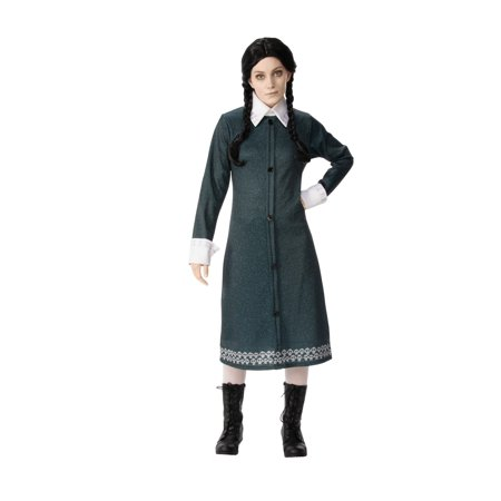 Family Crafts Halloween Costumes (Wednesday of The Addams Family Ladies Costume - Size)