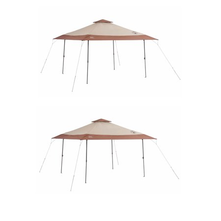 UPC 193802000115 product image for Coleman Camping Tailgating Backyard BBQ Eaved Instant Canopy Shelter (2 Pack) | upcitemdb.com
