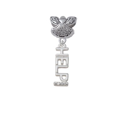 - Small Crystal HELP! - Guardian Angel Charm Bead