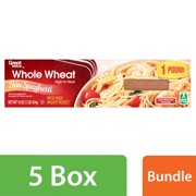 (5 Pack) Great Value Whole Wheat Thin Spaghetti, 16 oz