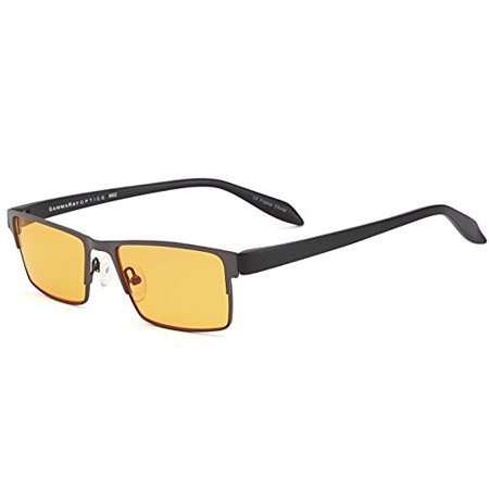 GAMMA  009  Light Blocking Glasses - Orange Lens for Computer Gaming TV Screen (Blue Light Blocker)