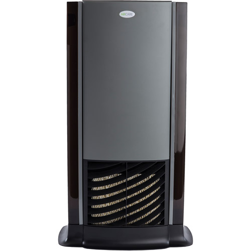 AIRCARE D46720 Tower Evaporative Humidifier for 1200 sq. ft. Black-Titanium