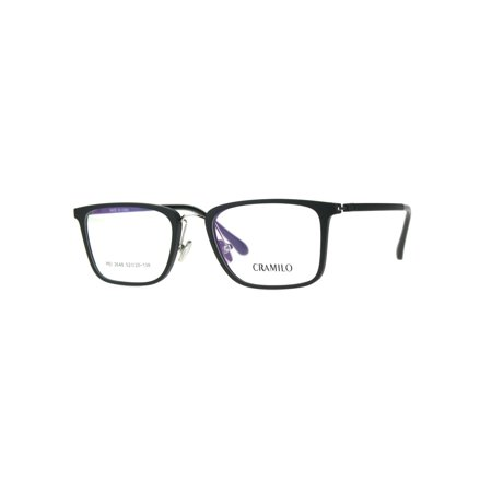 9d78c962ce6c Optical Quality Rectangular Minimal Designer Eyeglasses Frame Matte Black  Silver - Walmart.com