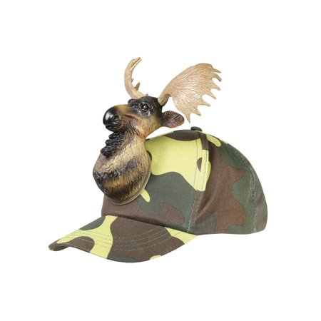 818ee3226740e RED CARPET - Red Carpet Men s 3D Hunting Fishing Hats - Cotton Baseball  Caps with Molded Animals - Moose Camo - Walmart.com