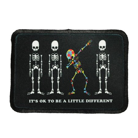 It's OK To Be A Little Different Patch Autism Dye Sublimation Iron On Applique
