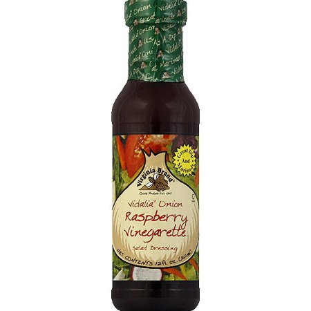 Virginia Brand Vidalia Onion Raspberry Vinegarette Salad Dressing, 12 fl oz, (Pack of